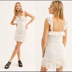Free people cross my heart crochet dress size 6